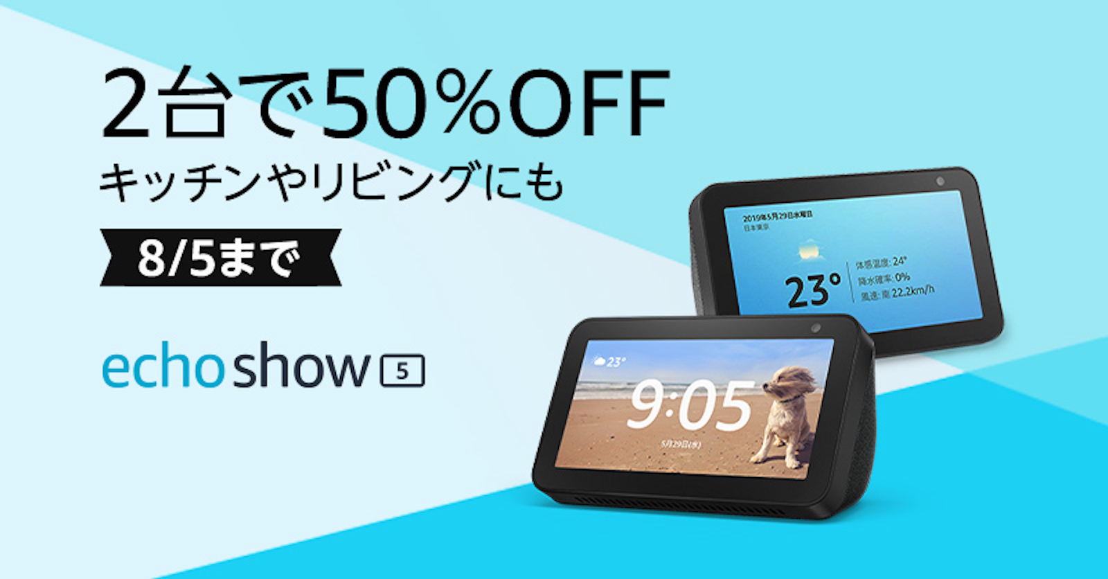Echo Show 50Percent Off Sale