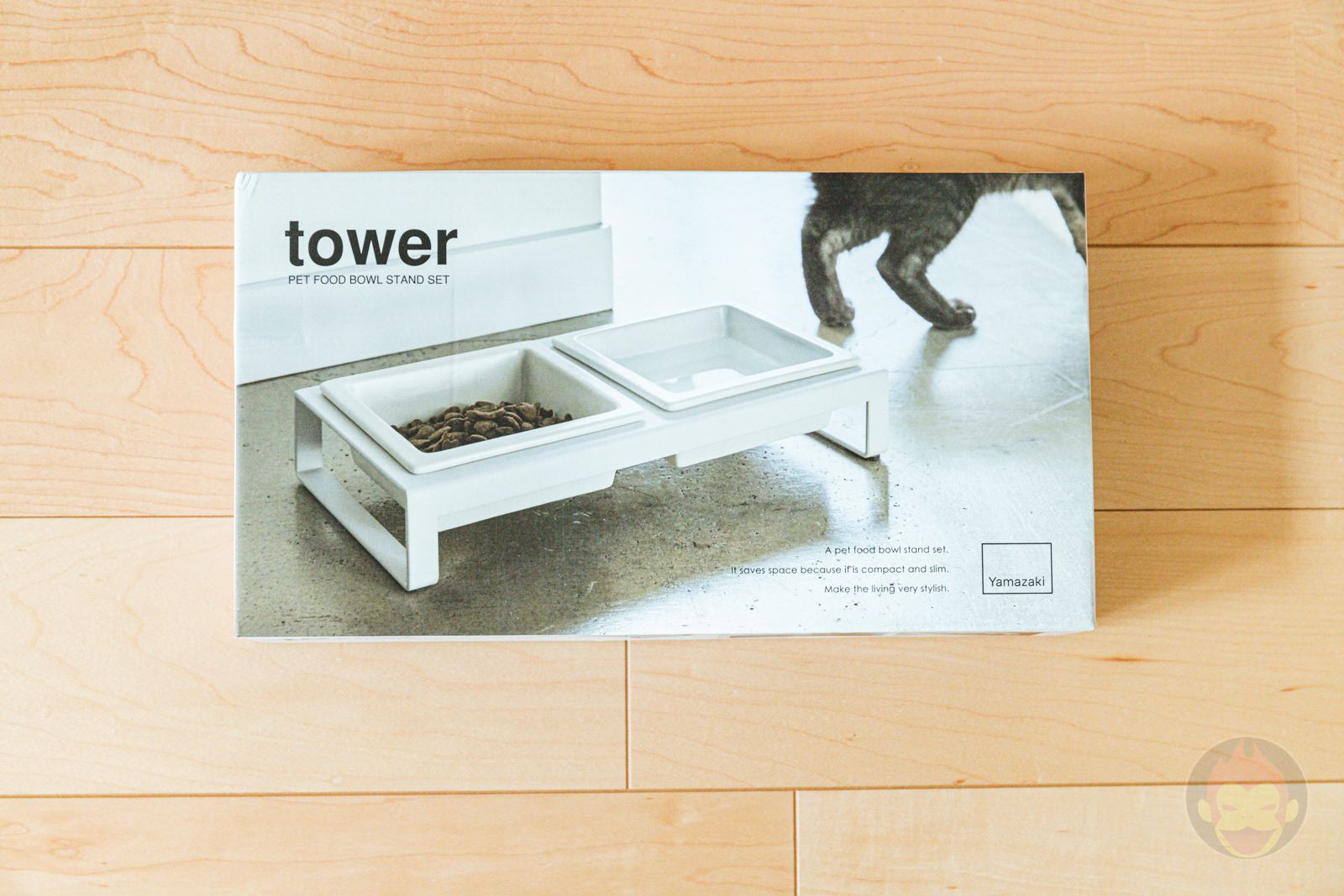 TOWER Pet food bowl stand set 01