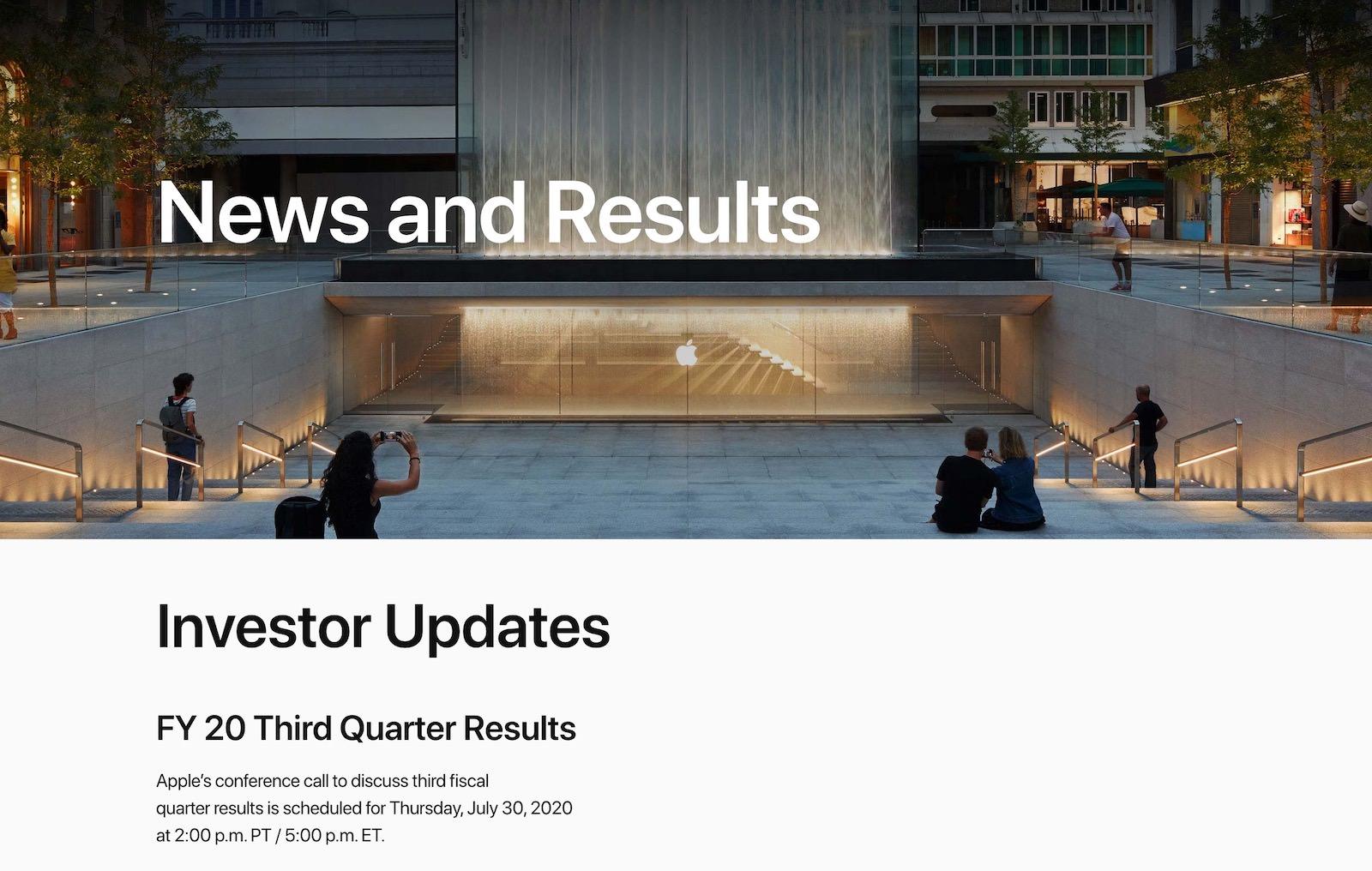 Apple finance call 3rd quarter