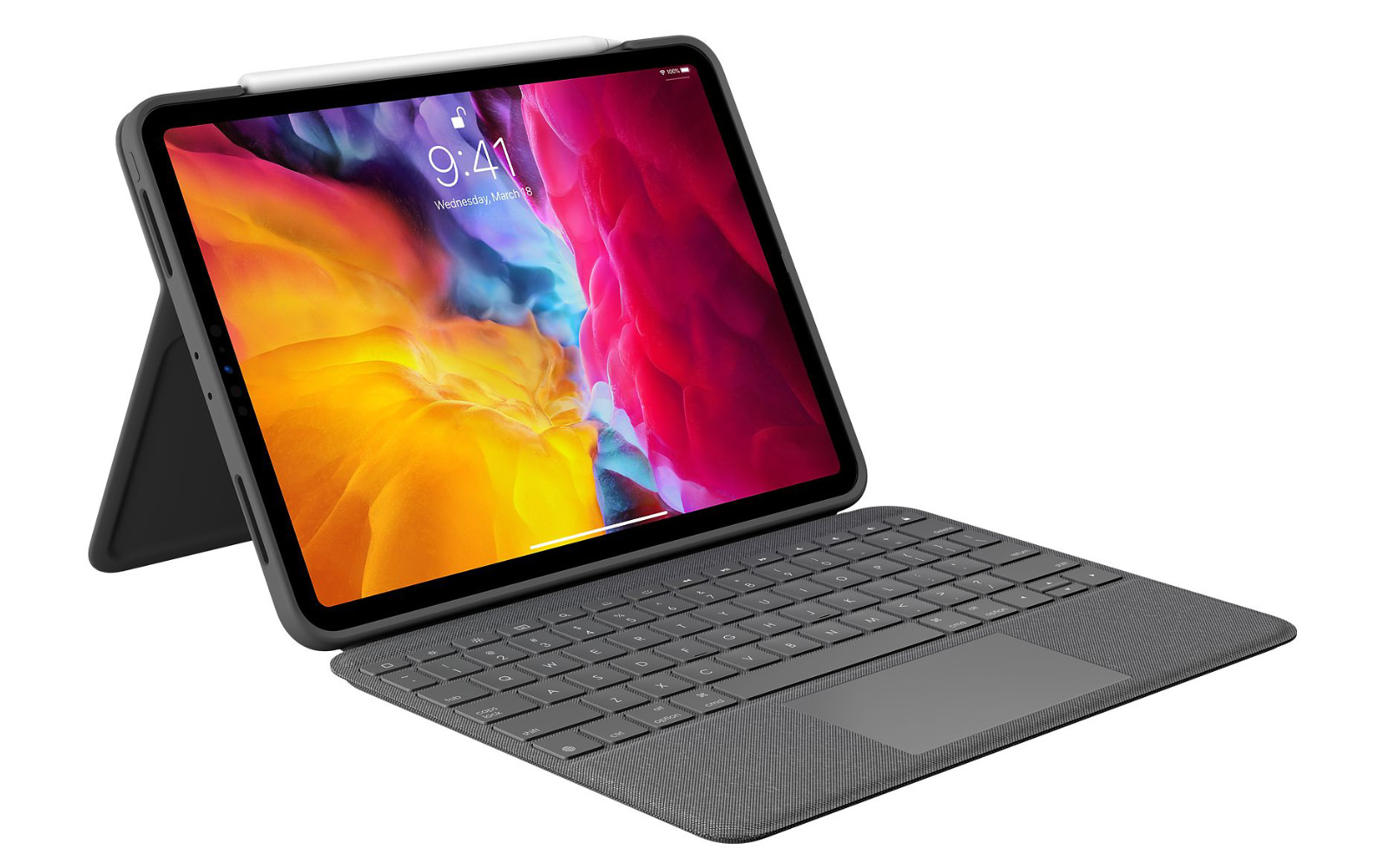 Logicool folio touch keyboard case with trackpad for 11ipadpro 1