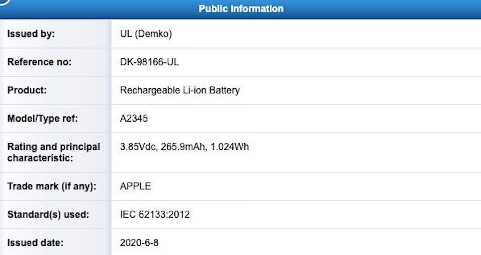 Apple A2345 UL Demko
