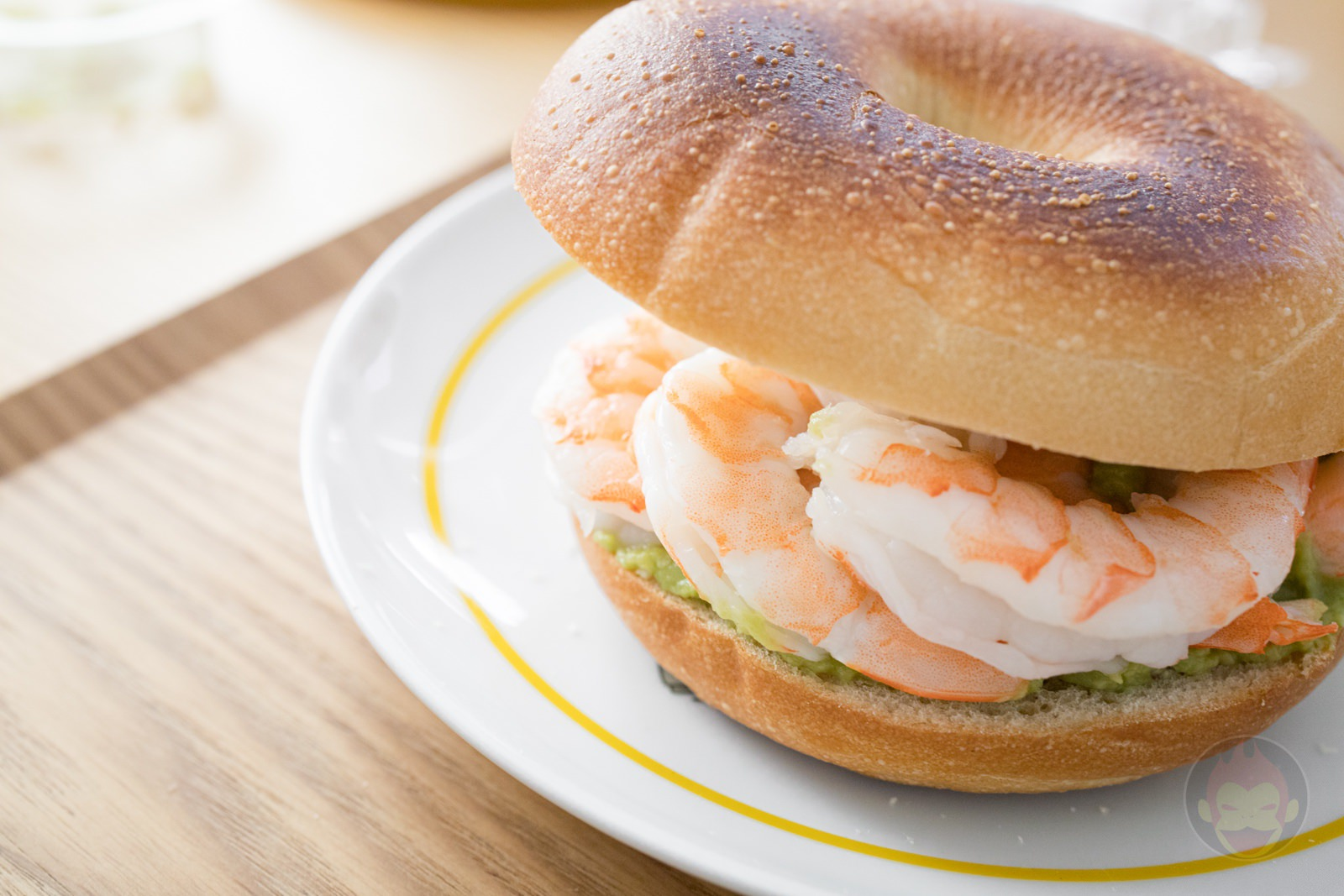 Costco Shrimp Avocado Guacamole Bagel Sandwich 12