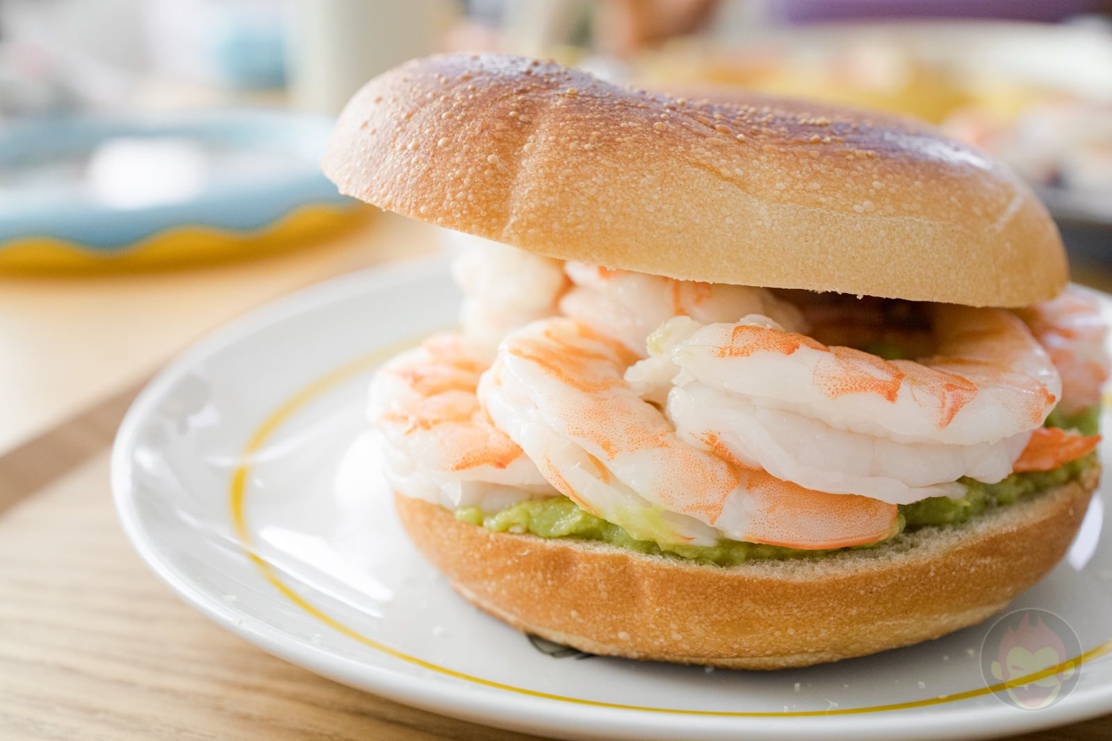 Costco Shrimp Avocado Guacamole Bagel Sandwich 13