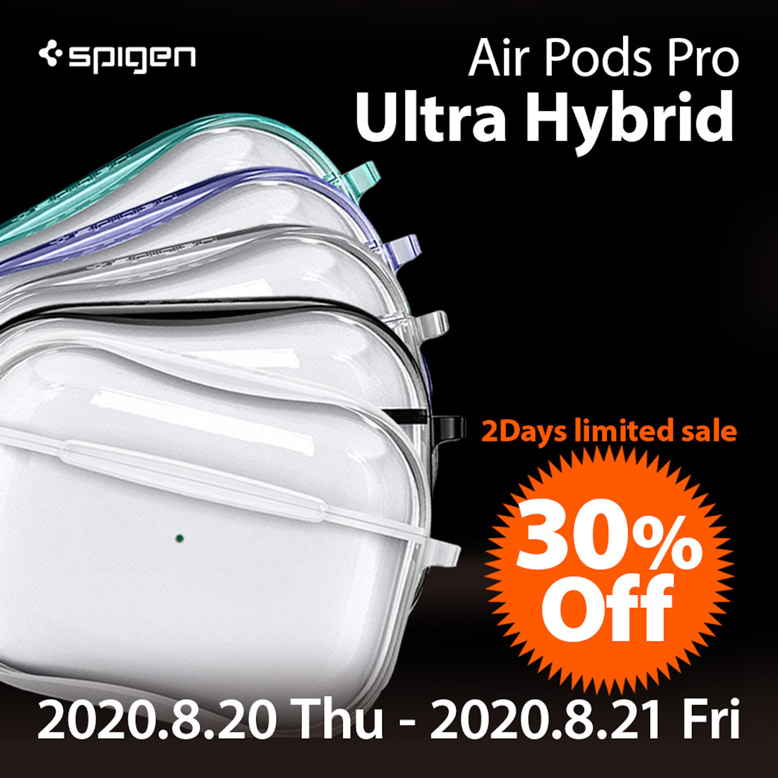 Spigen ultra hybrid airpodspro case sale 1