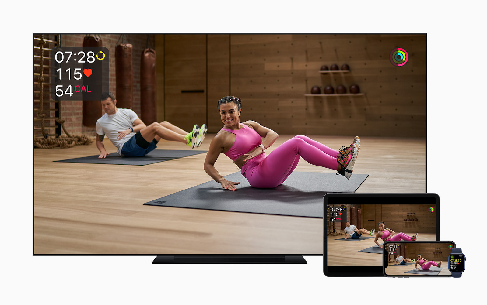 Apple fitness plus screens appletv ipadpro applewatch iphone11 09152020