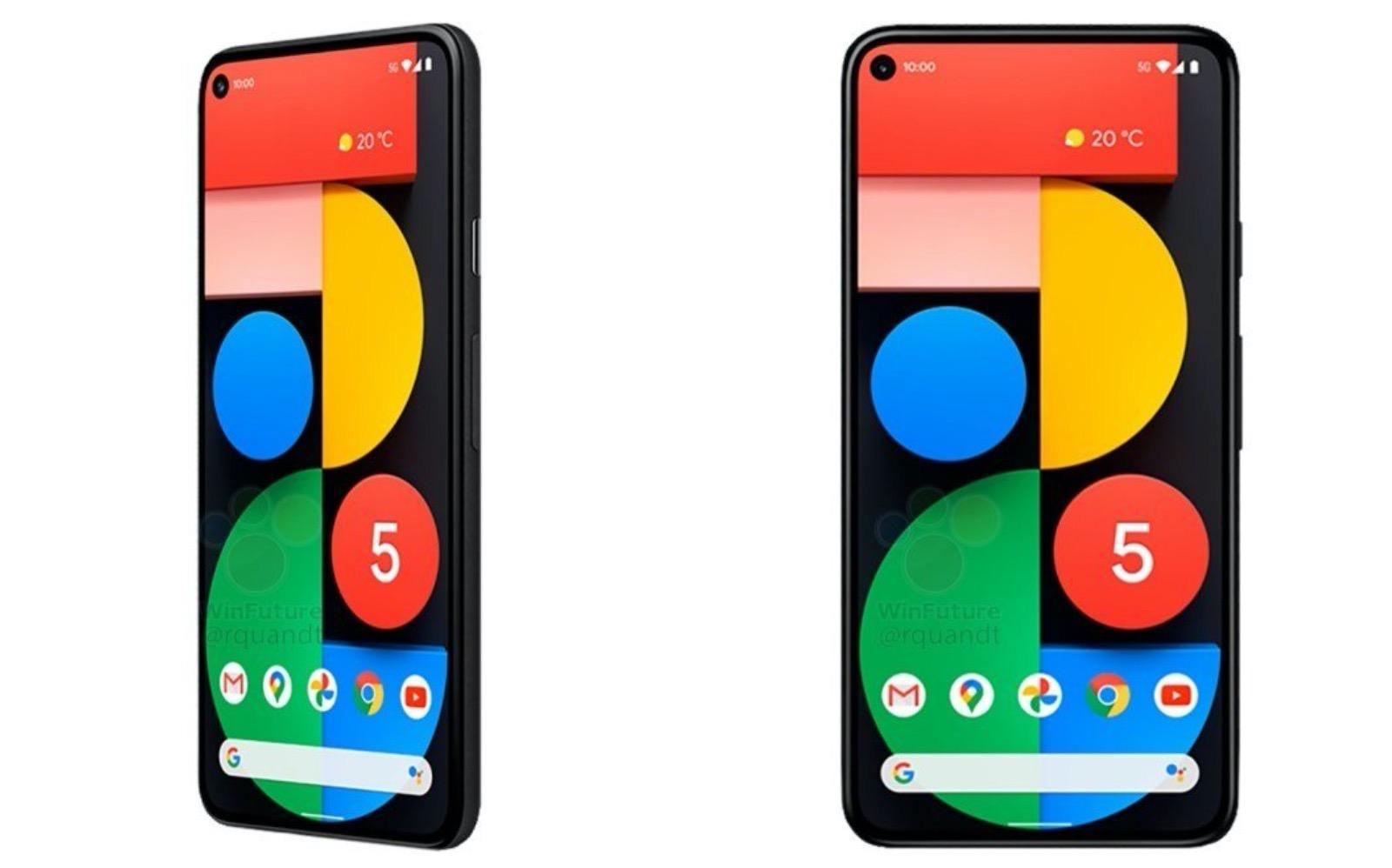 Google Pixel 5 rendering images