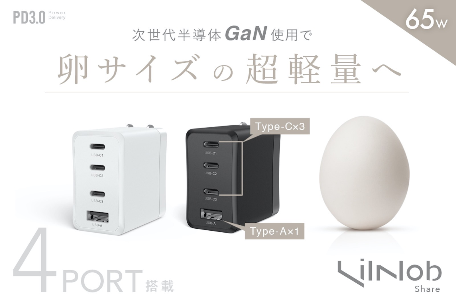 LilNob Share GaN 65W charger