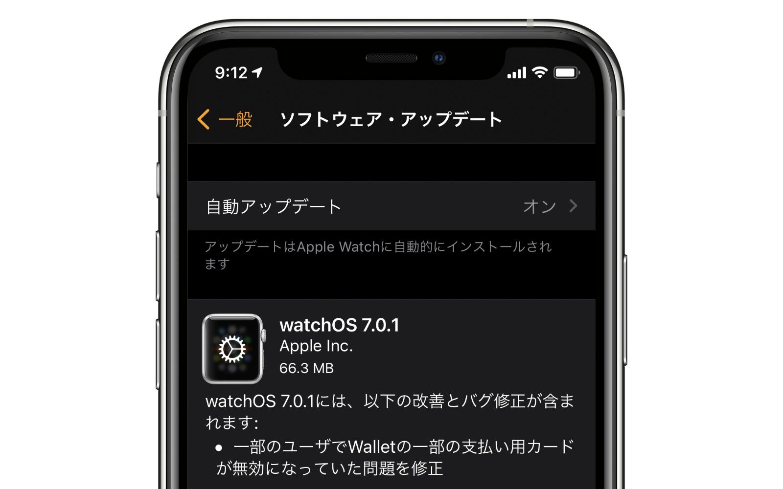 Software Update WatchOS7