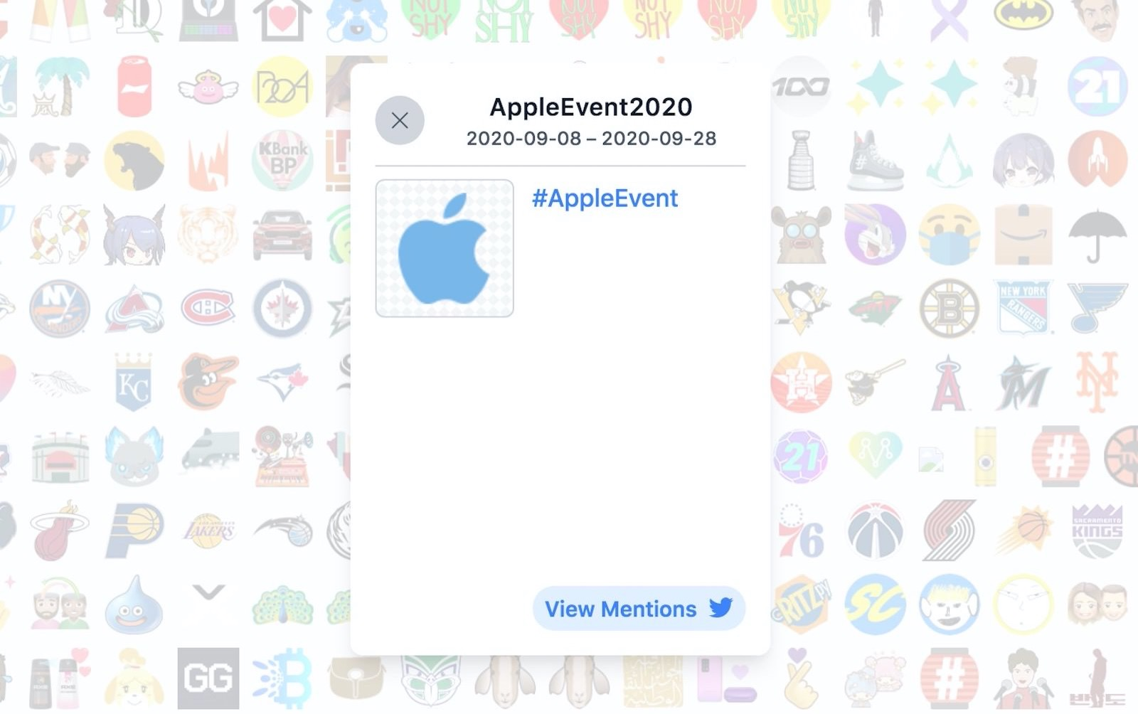 Hasthtag browser applevent2020