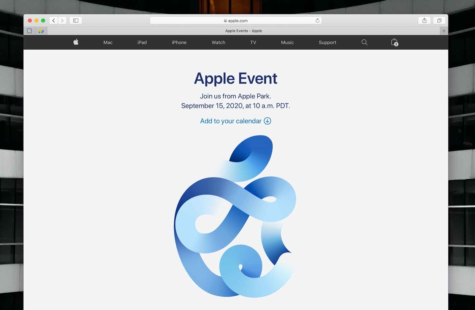 Time flies apple web