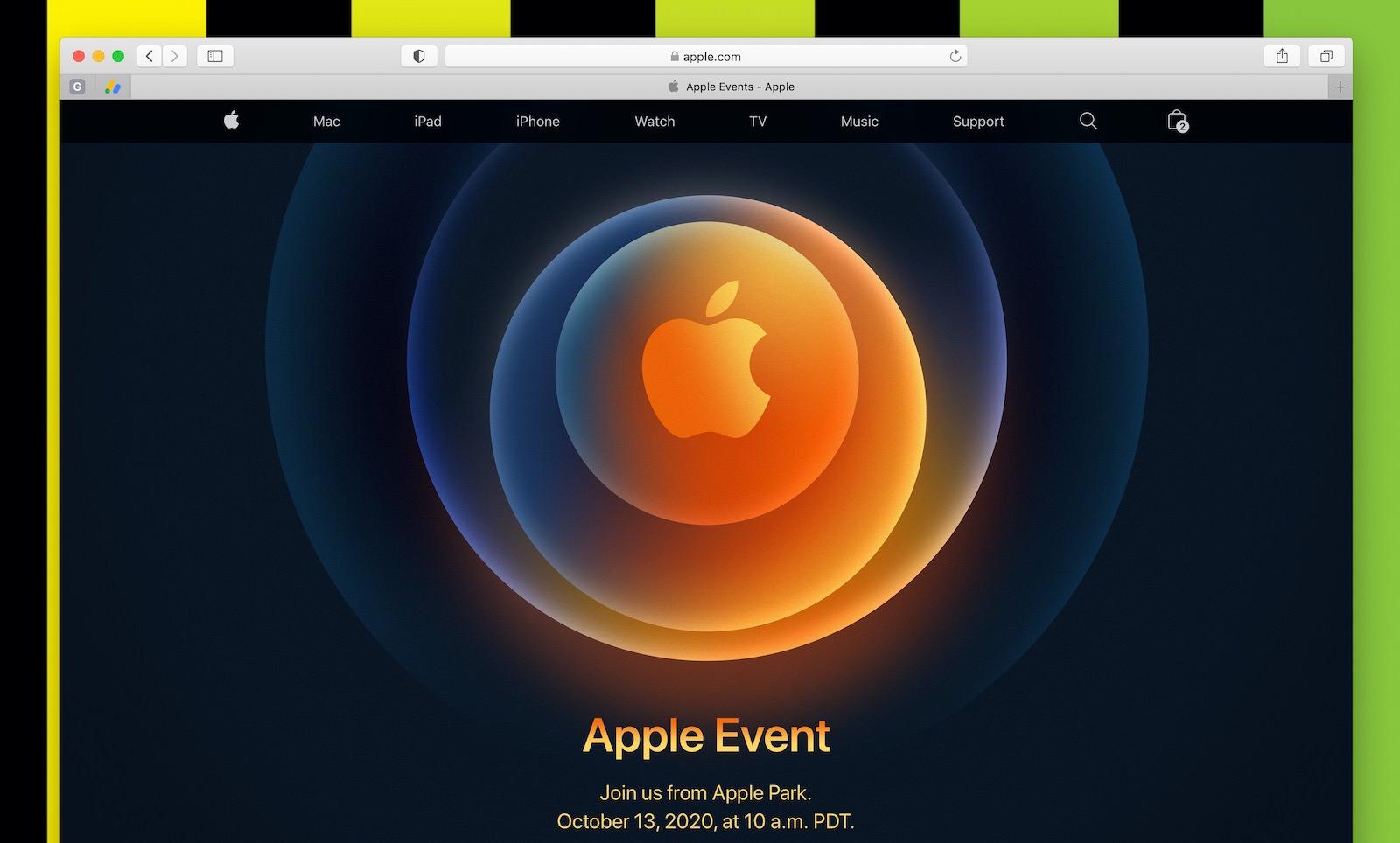 Apple event on safari