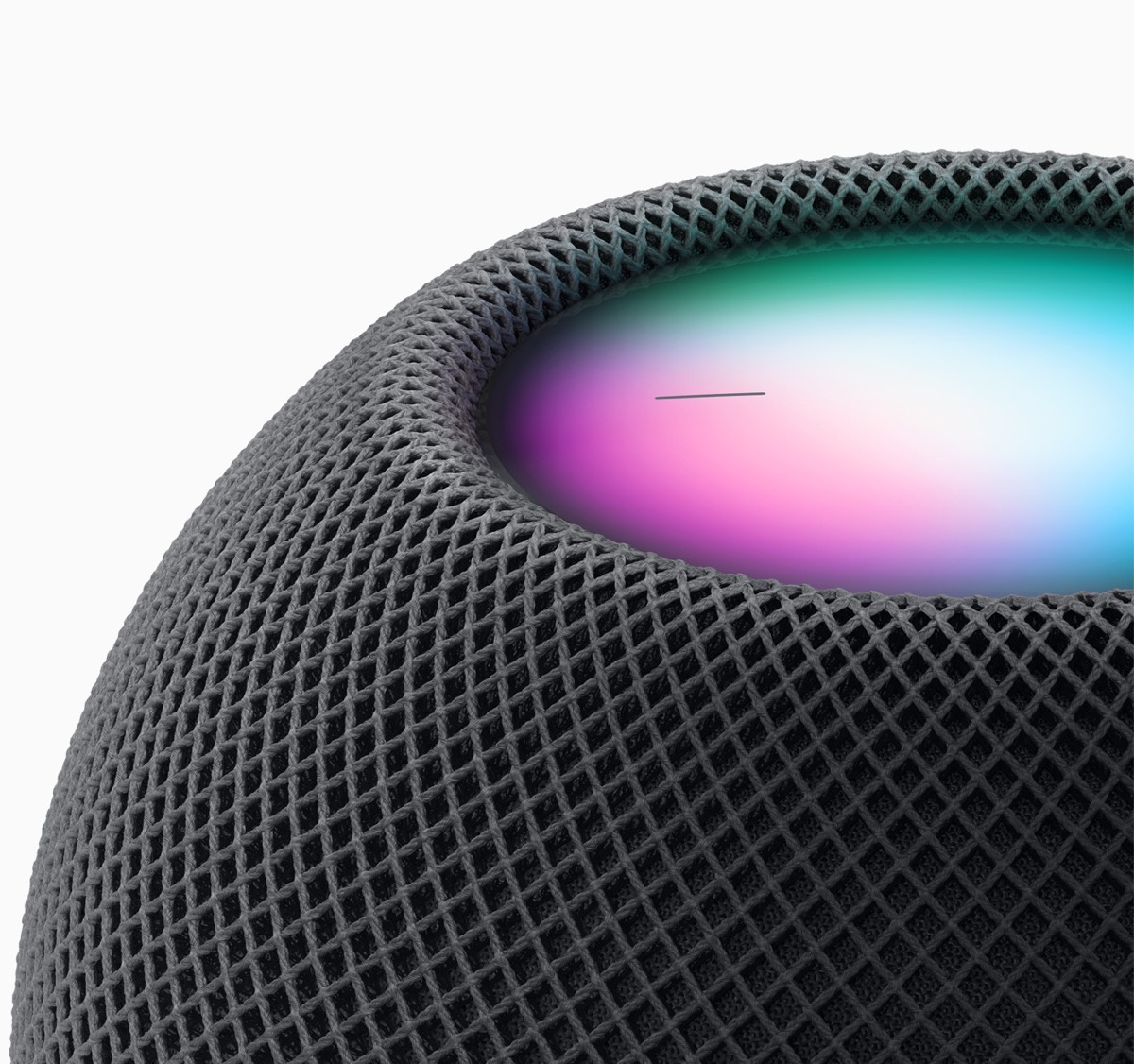Apple homepod mini space gray close up 10132020