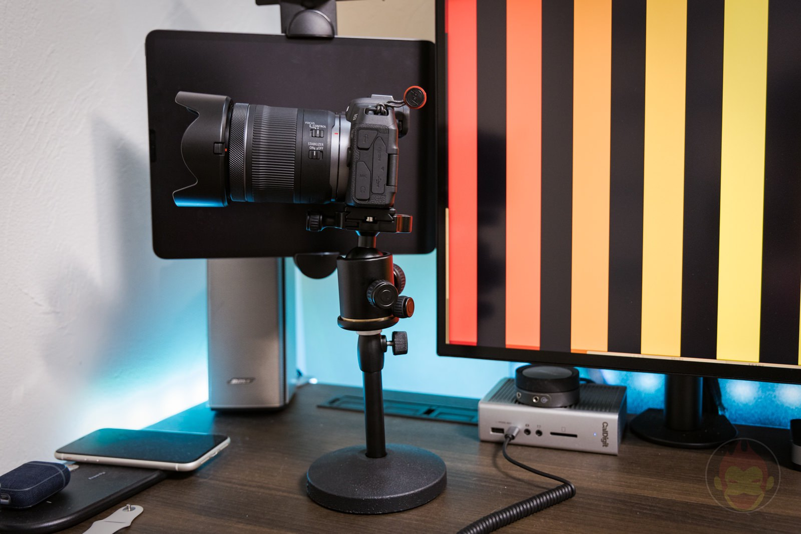 Using a mic stand for Camera 06