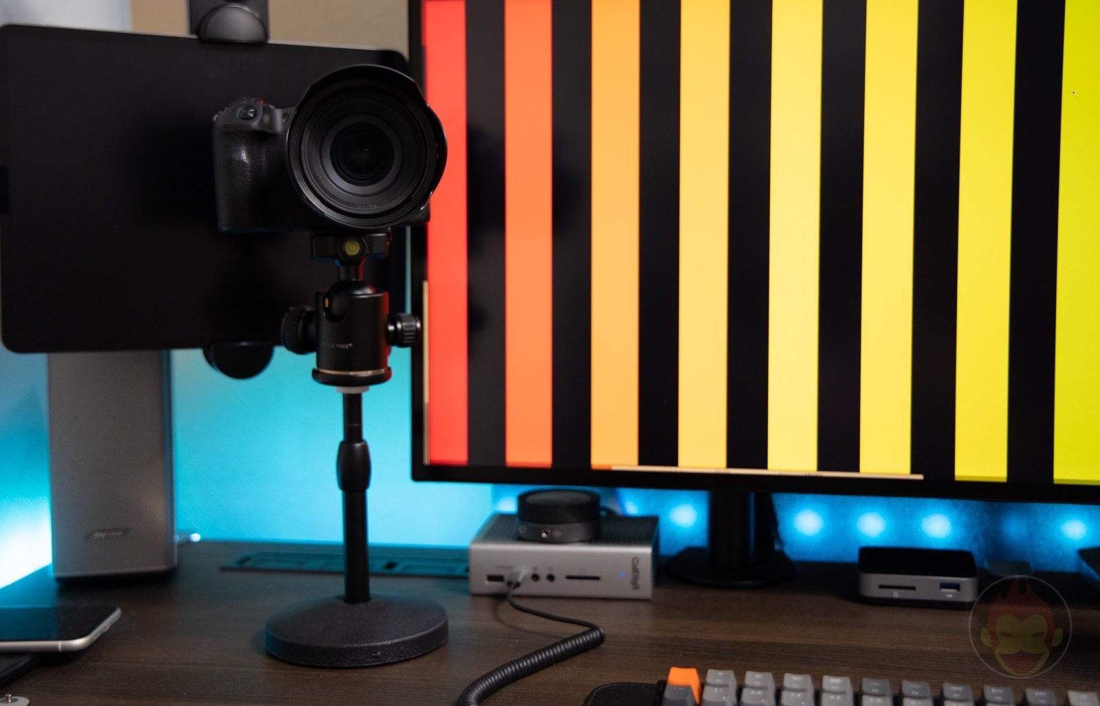 Using a mic stand for Camera Review 01