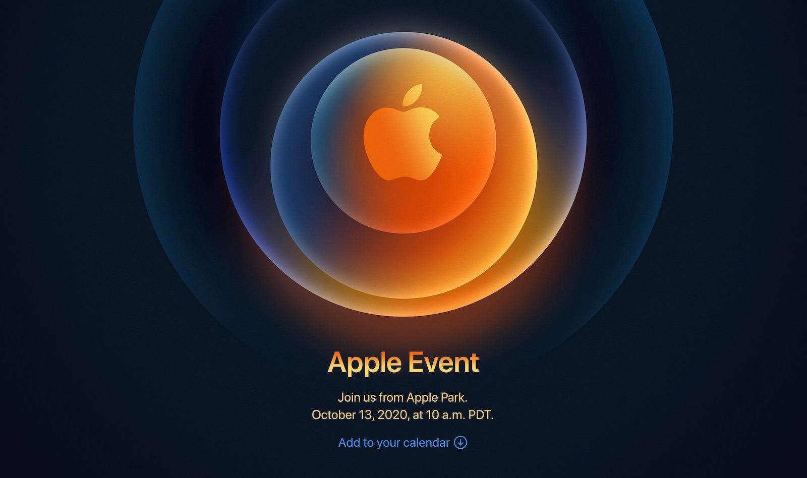 Iphone 12 event oct13
