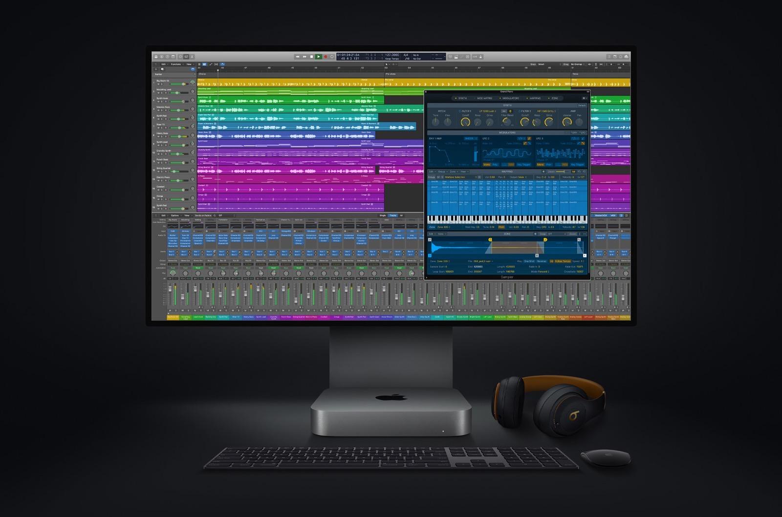 Apple new mac mini logicpro screen 11102020