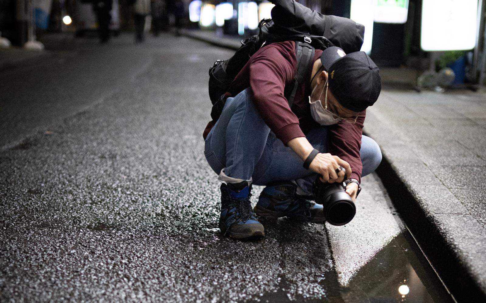 Photo snapping at Yokohama