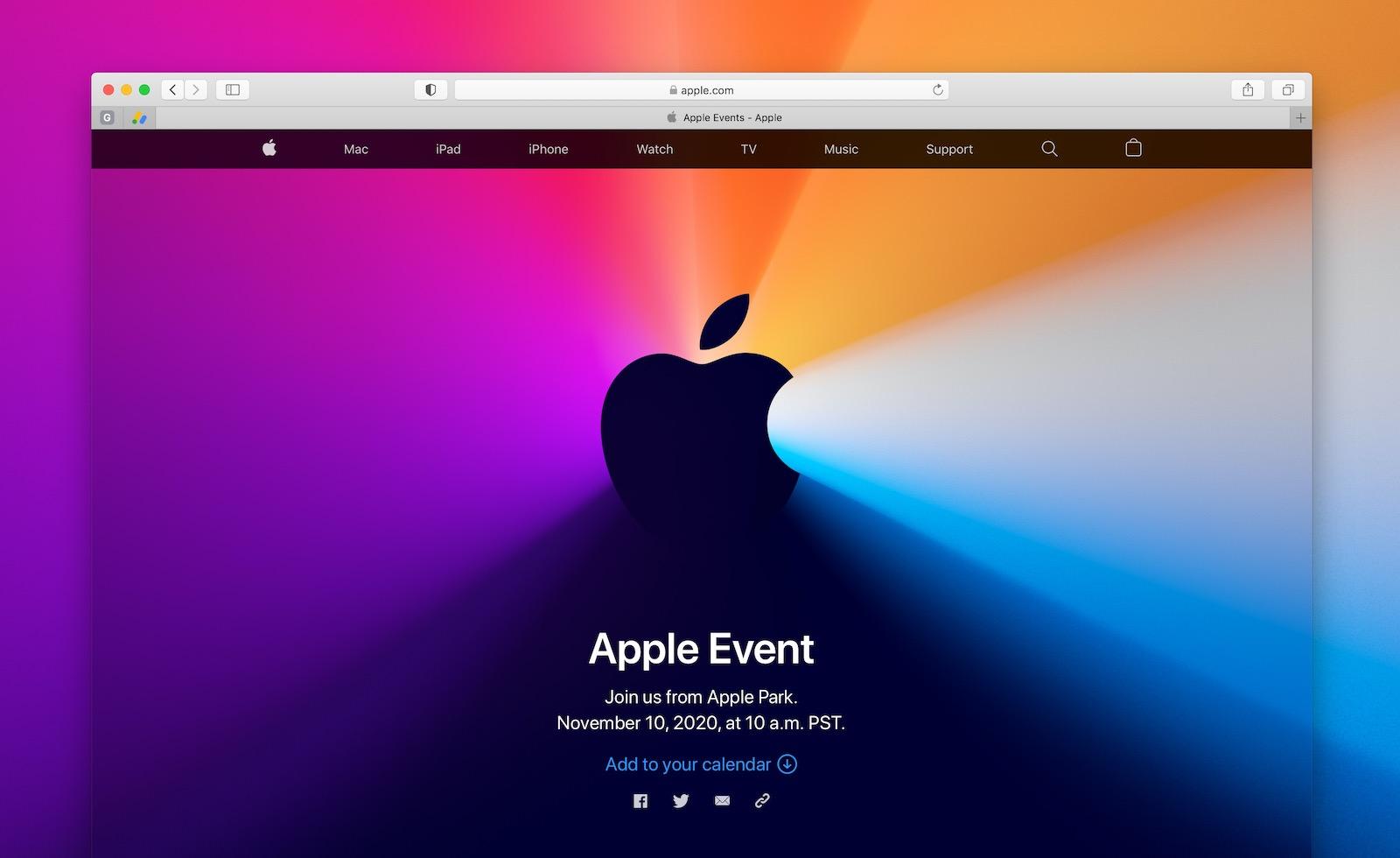 Apple event nov