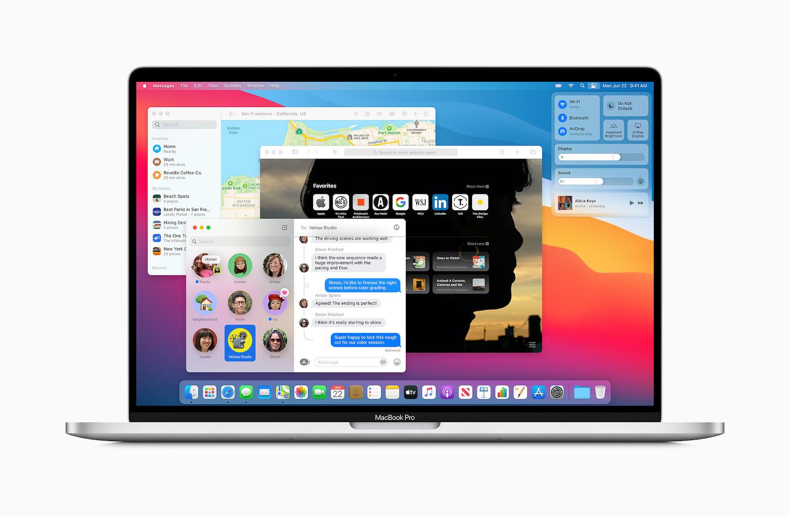 Apple macos bigsur redesignedapps 06222020
