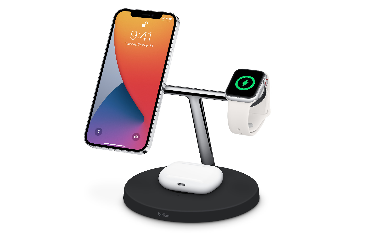 Belkin boost↑charge pro 3 in 1 wireless charger with magsafe 1
