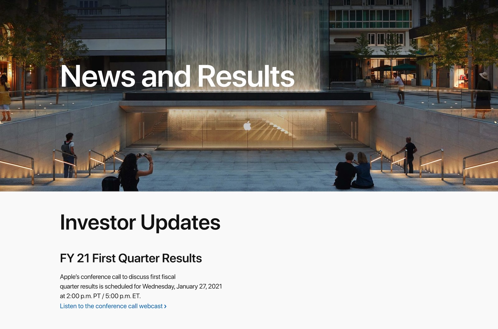 Apple financial results for 2021 1st quarter