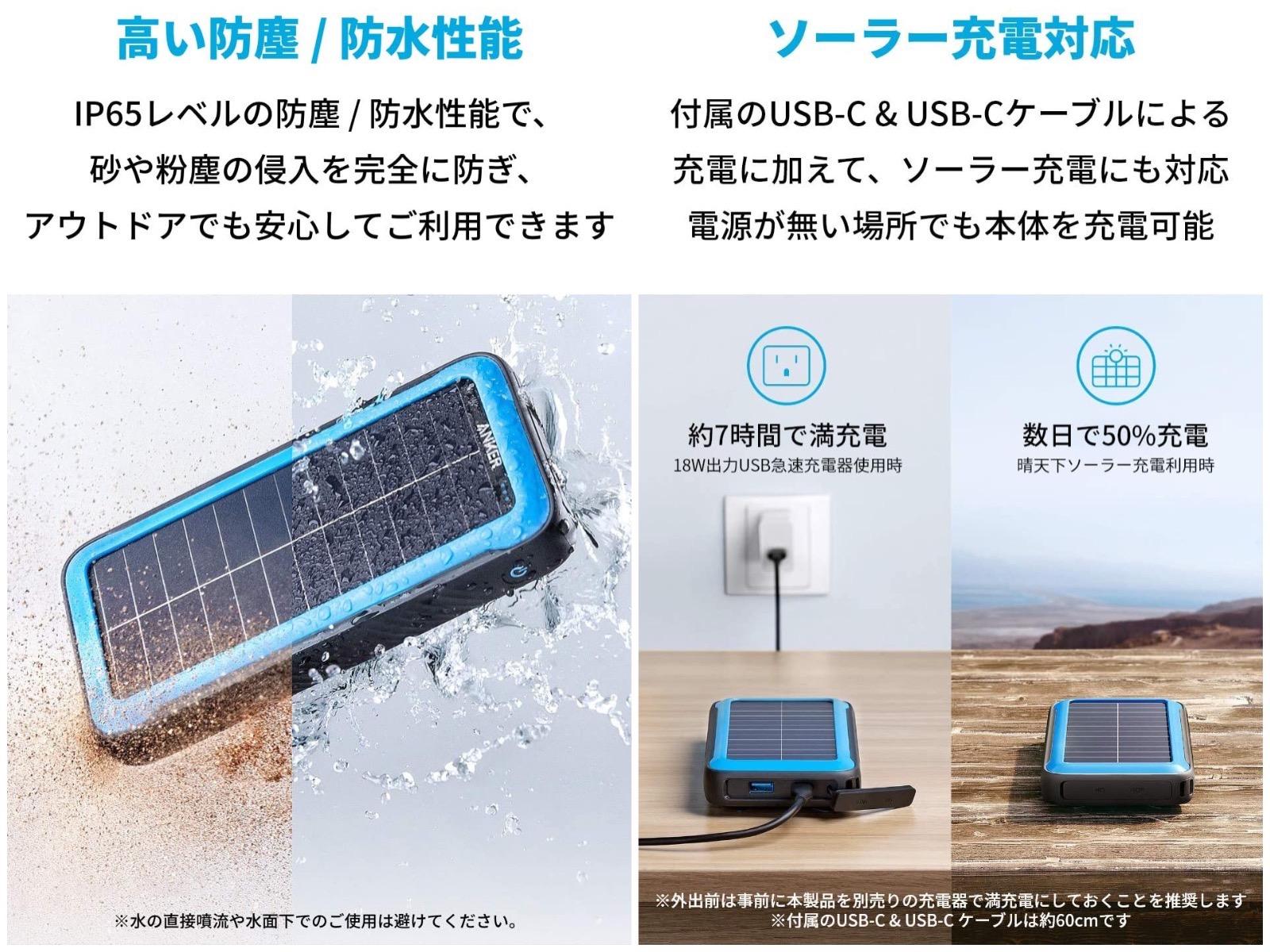 Anker Solar Panel Mobile Battery Specs