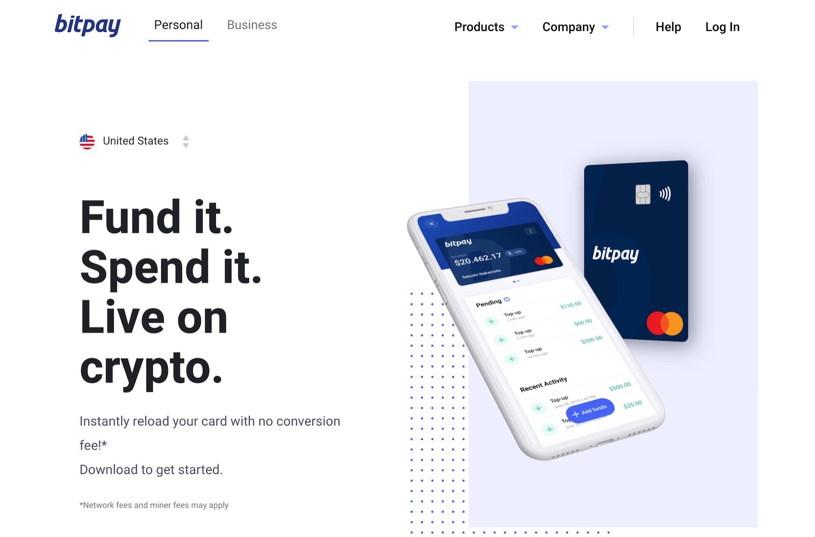 Bitpay Mastercard compatible with apple pay