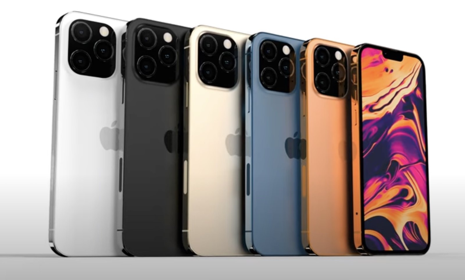Iphone 13 color lineup images