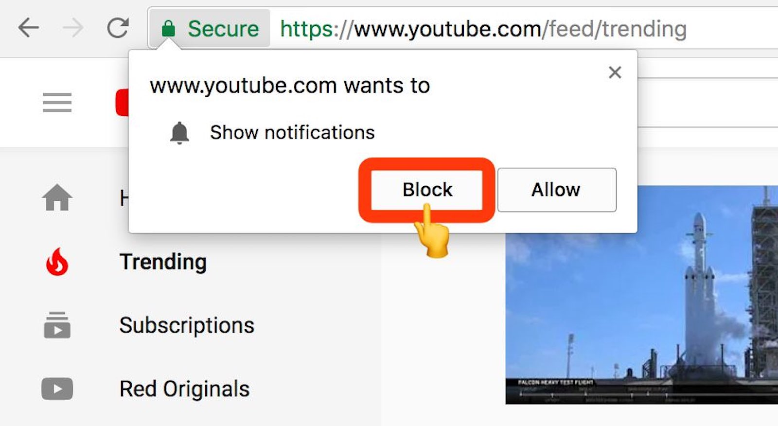 Block notifications from sites