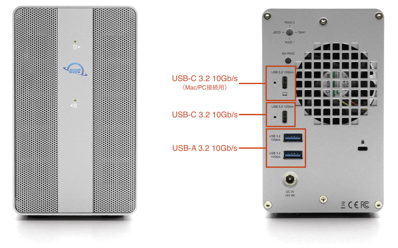 OWC Mercury Elite Pro Dual with 3 Port Hub 2