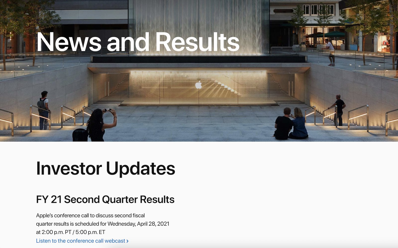 Apple financial results ry21 second quarter