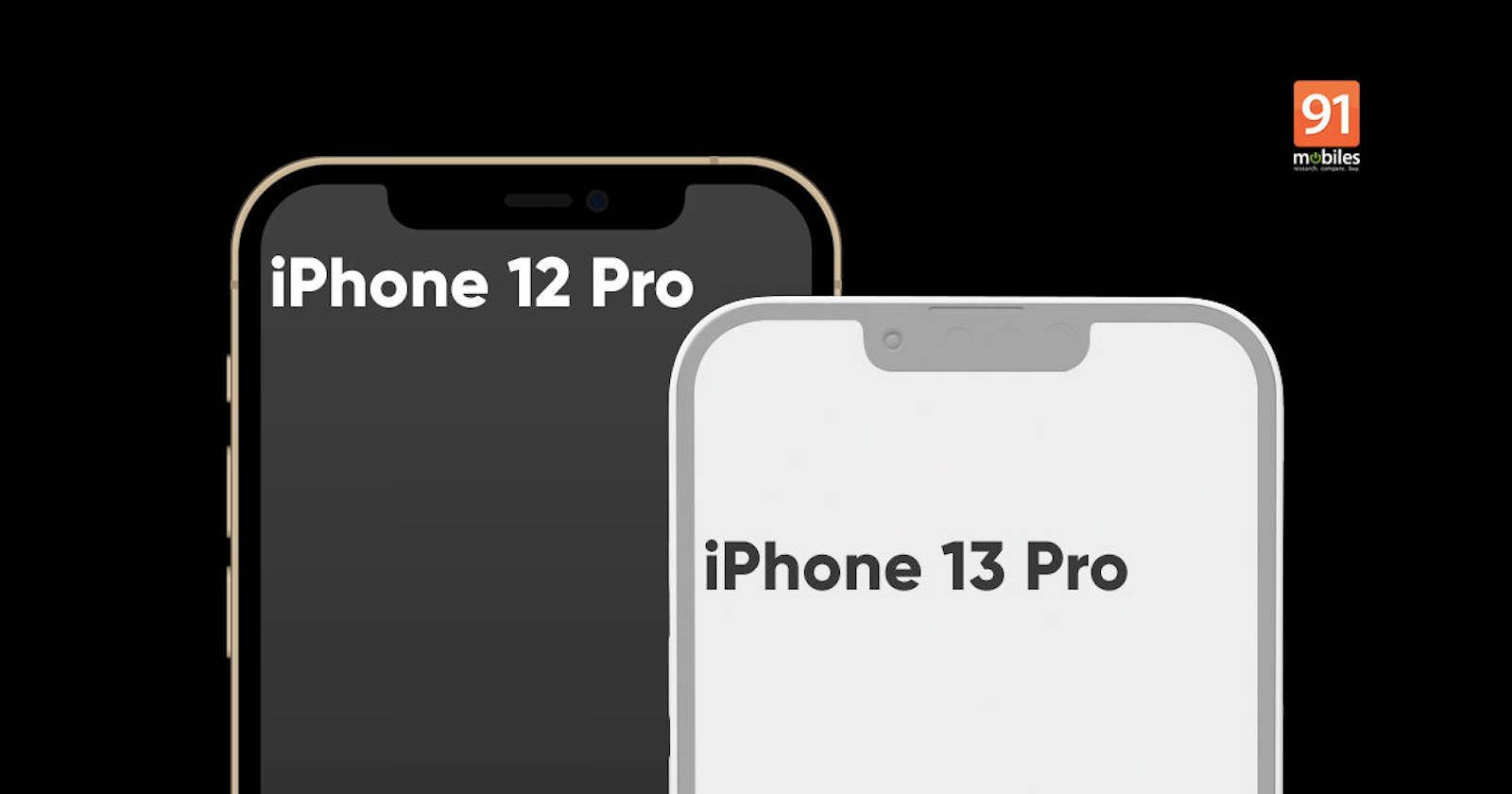 Iphone 13 pro notch comparison
