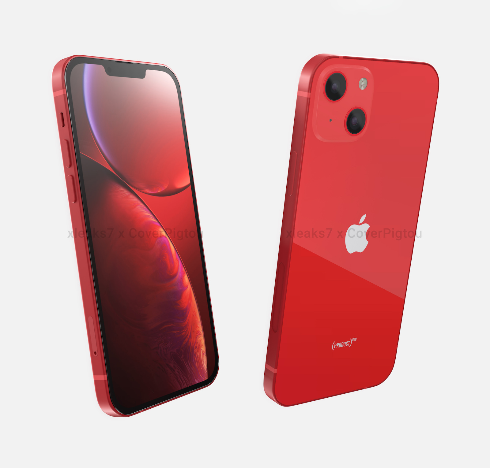 Iphone13 product red design 1