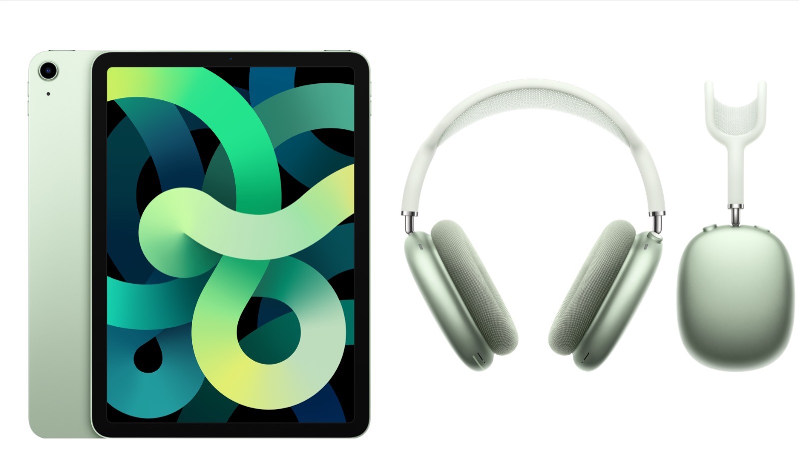AirPodsMax and iPadAir Green colors