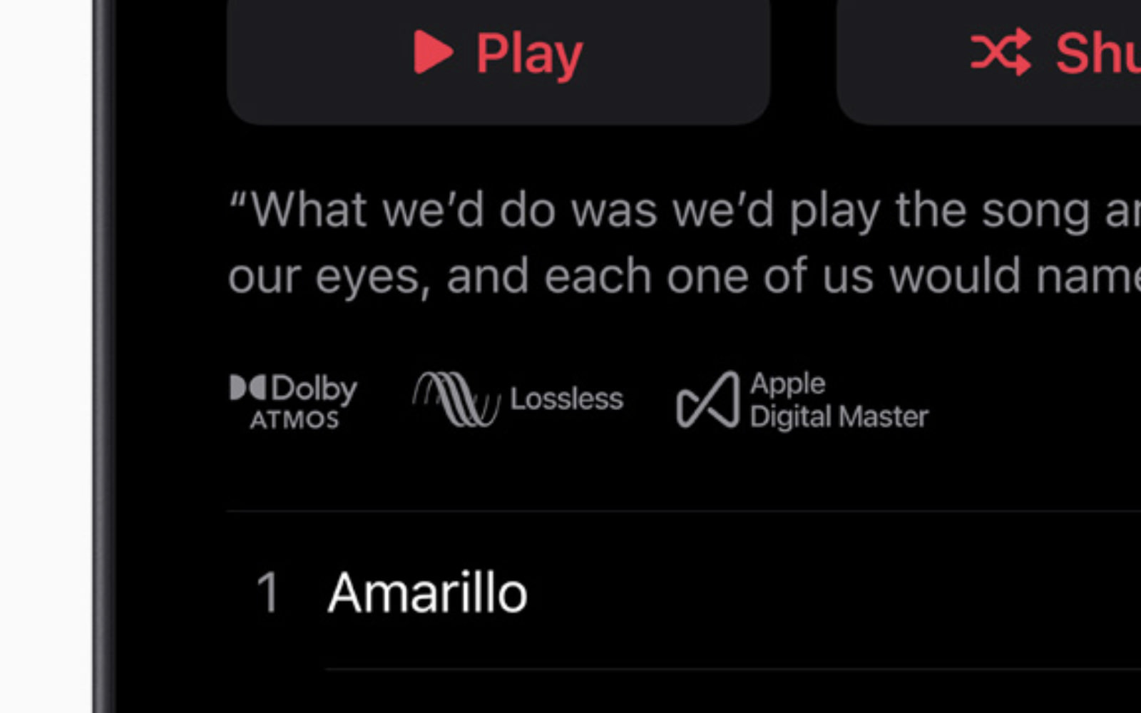 Apple Music Lossless and DolbyAtmos