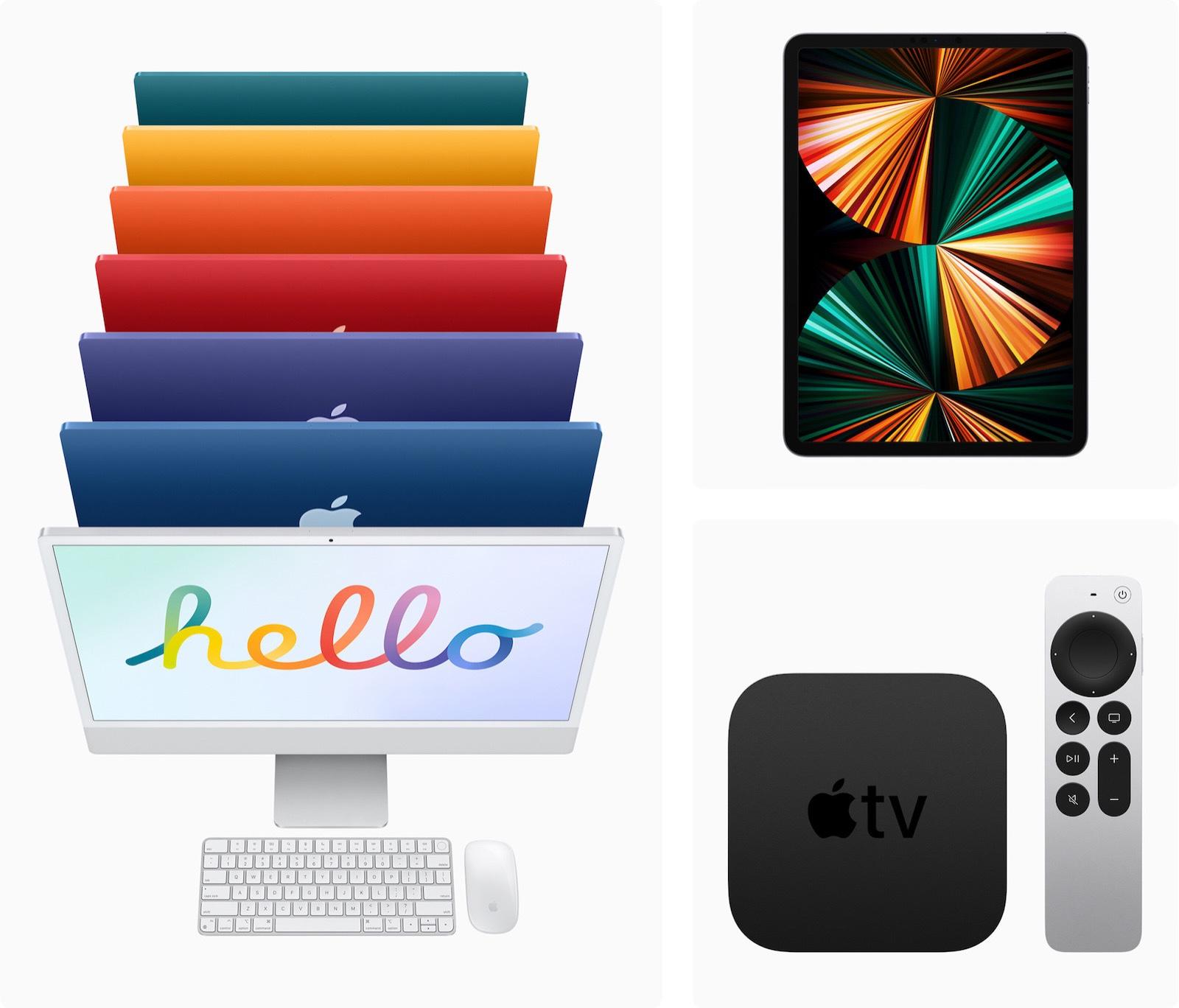 Apple iMac iPadPro AppleTV4K in stores Friday 051721