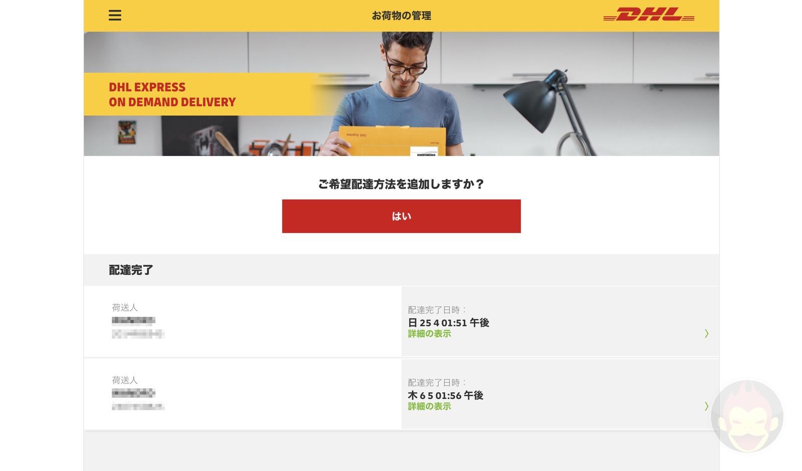DHL shipment options 02