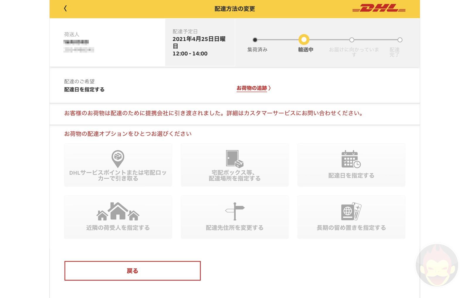 DHL shipment options 03