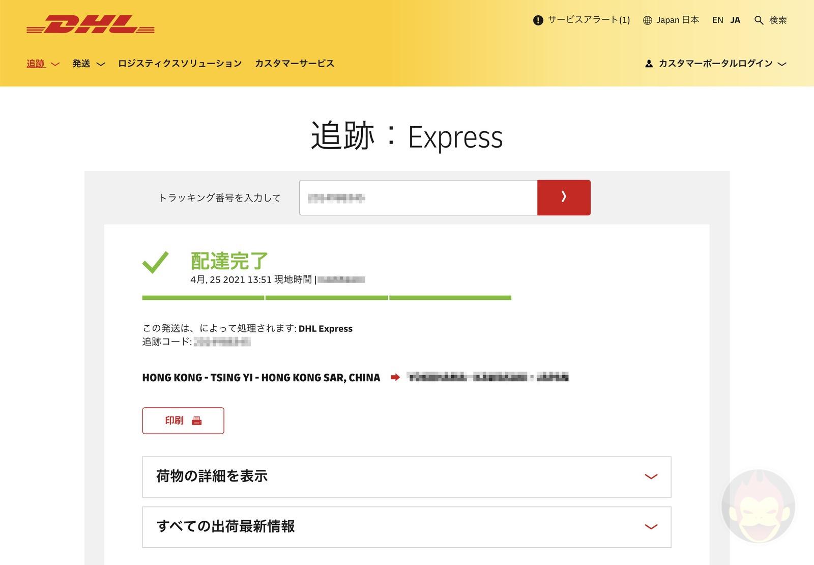 DHL shipment options 04