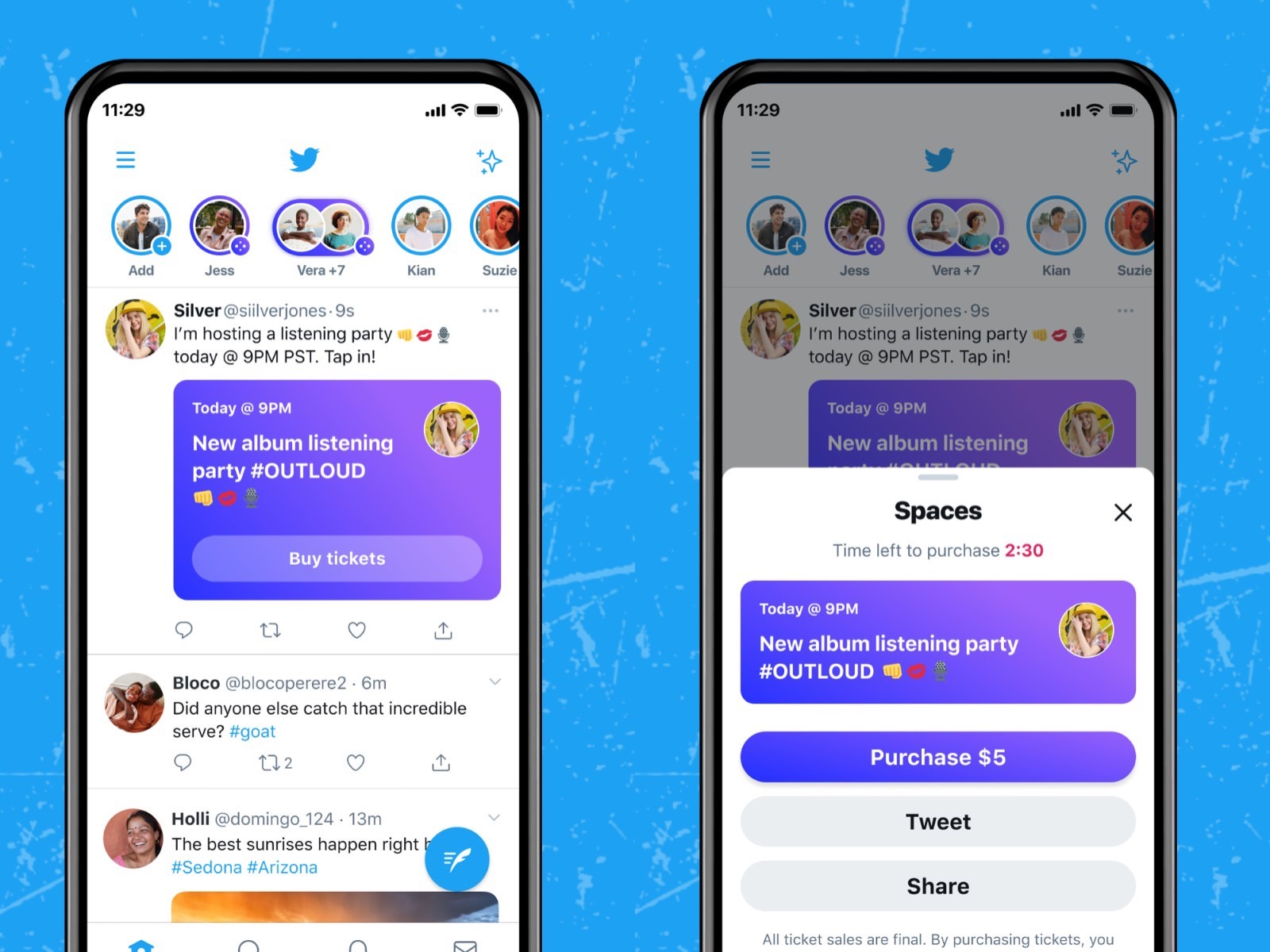 Twitter Spaces tickets