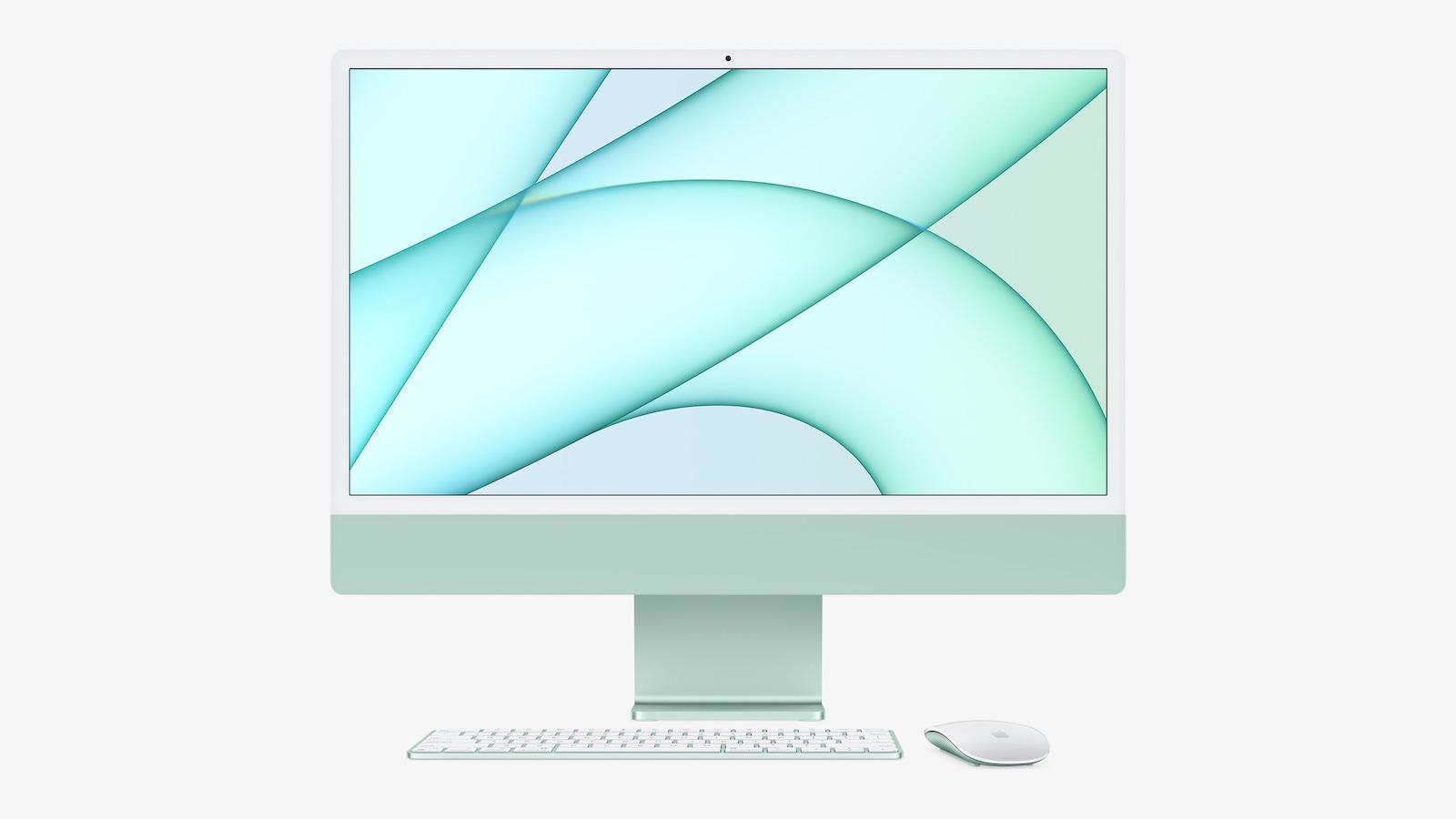Apple new imac spring21 pf green accessories 04202021