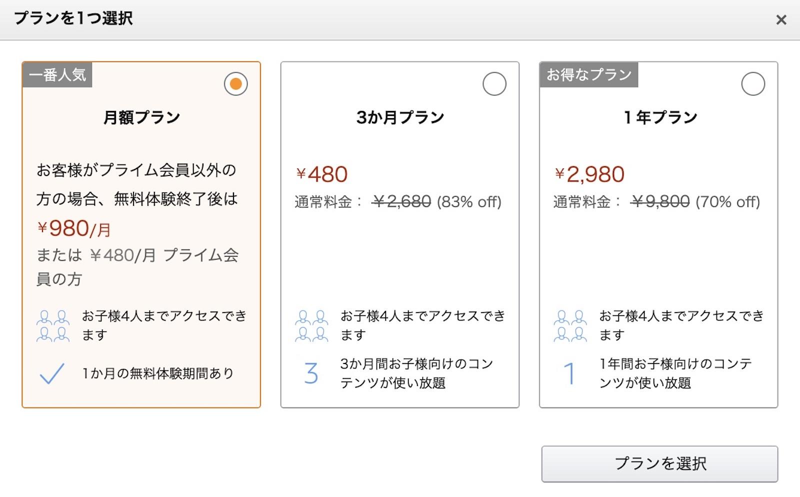 Amazon Kids Campaign summer discount 2