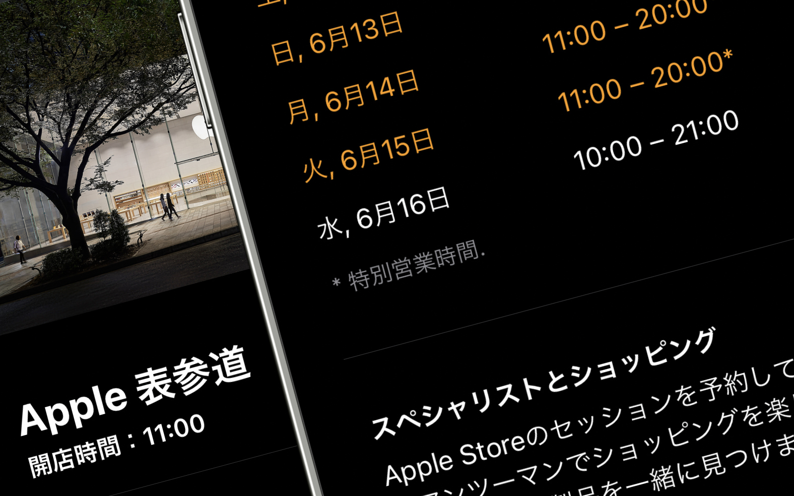 Apple Store Regular Store Times from june16