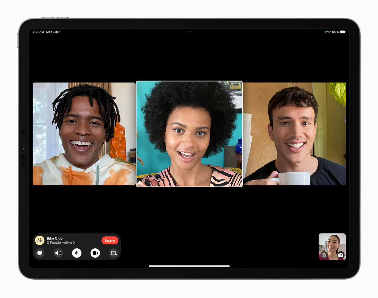iPadOS 15 FaceTime