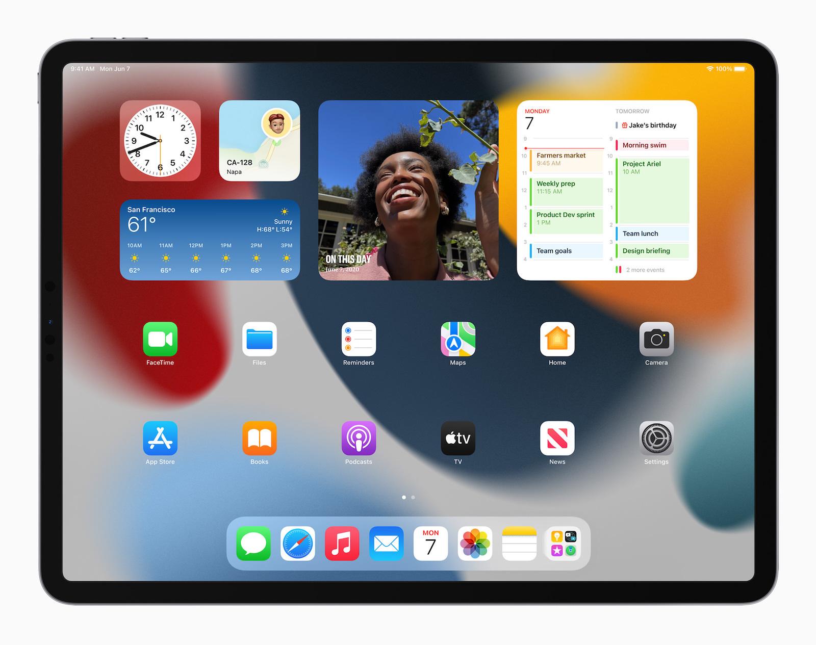 iPadOS 15のウィジェット