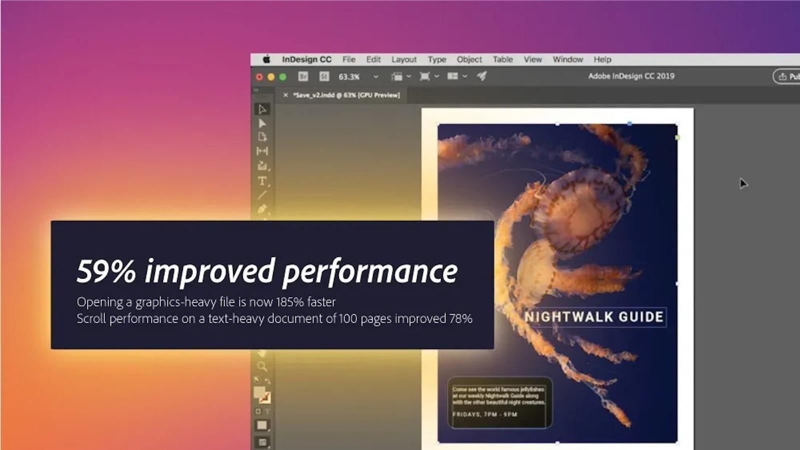 InDesign benchmarks adobe