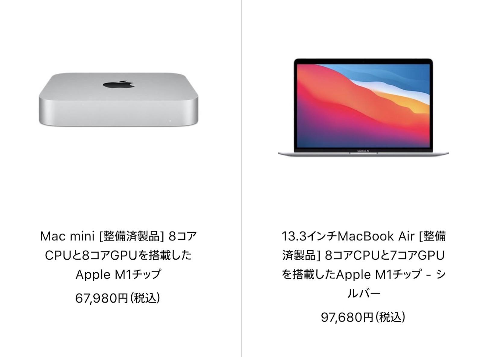 Mac Refurbished model 2021 06 28