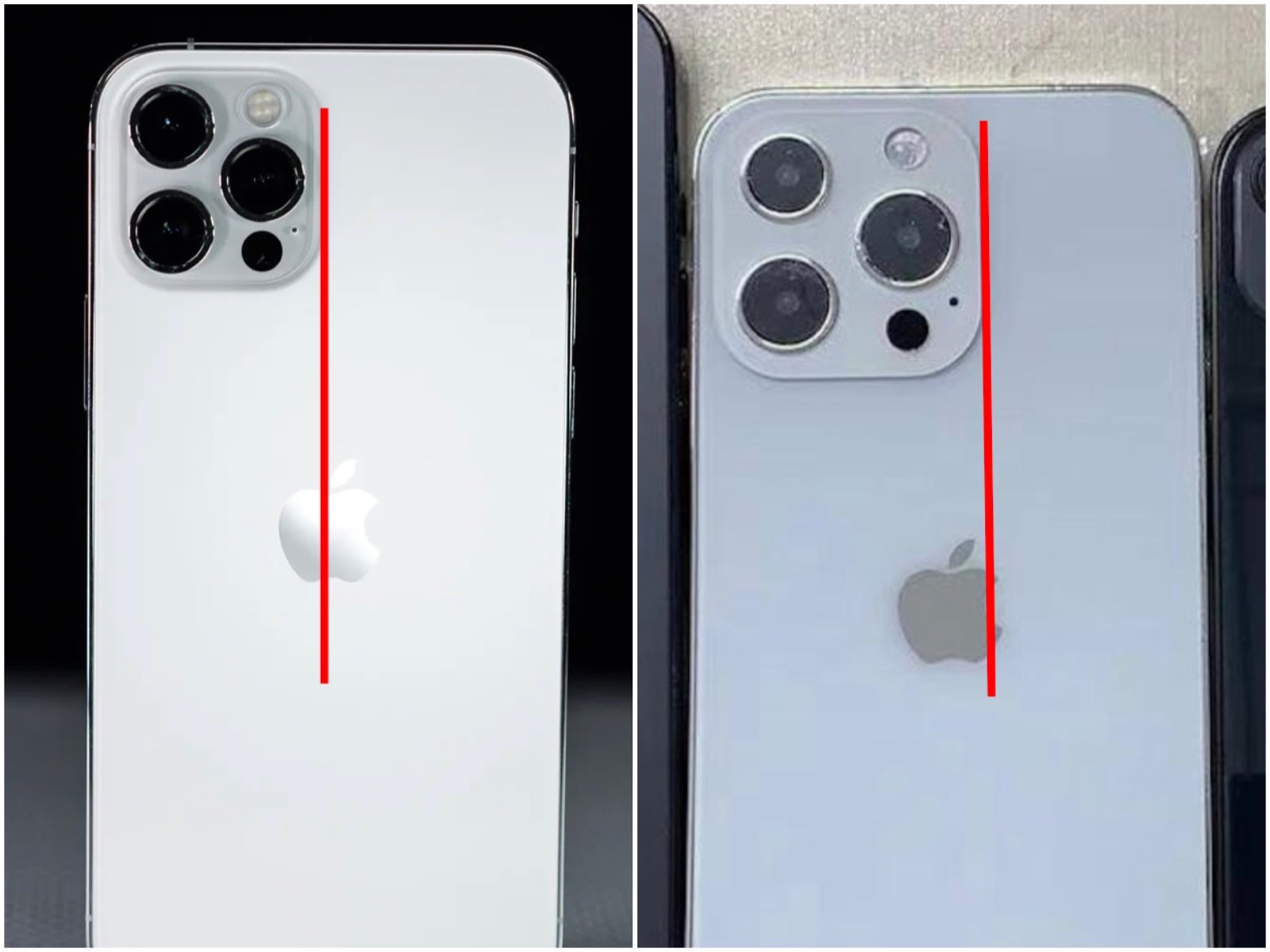 Iphone13pro vs 12pro camera unit size