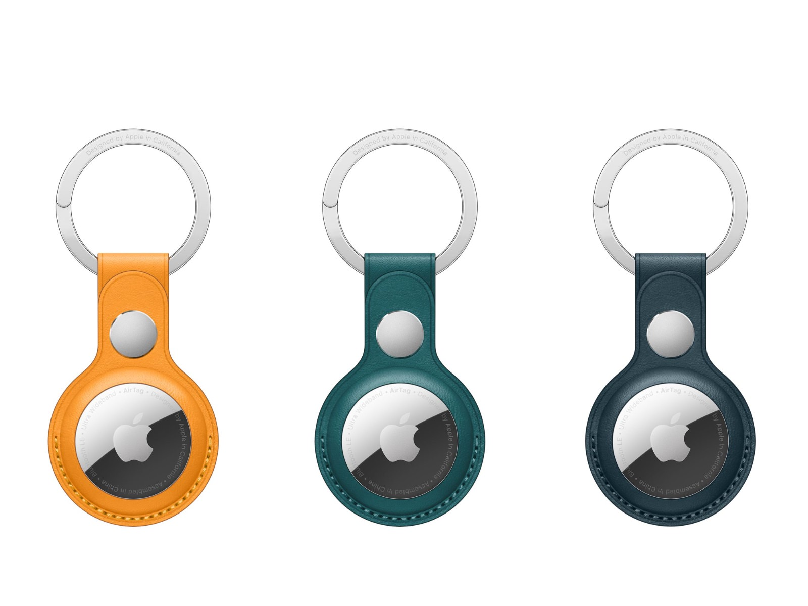 AirTag Leather Key ring new colors