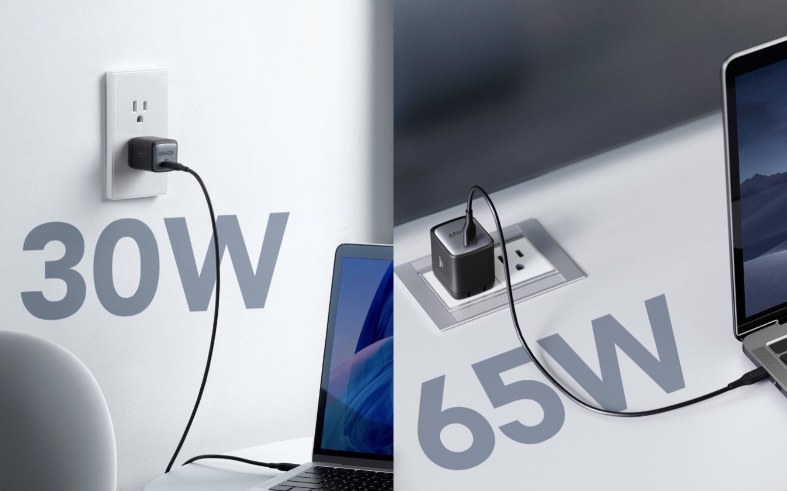 Anker GanII 30W and 65W Charger